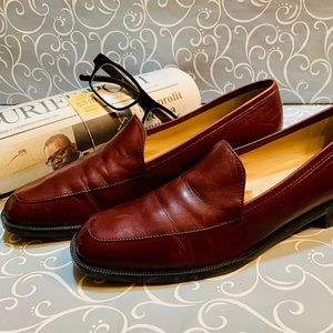 Brown Soft Calf Leather Loafers by Enzo Size 8.5